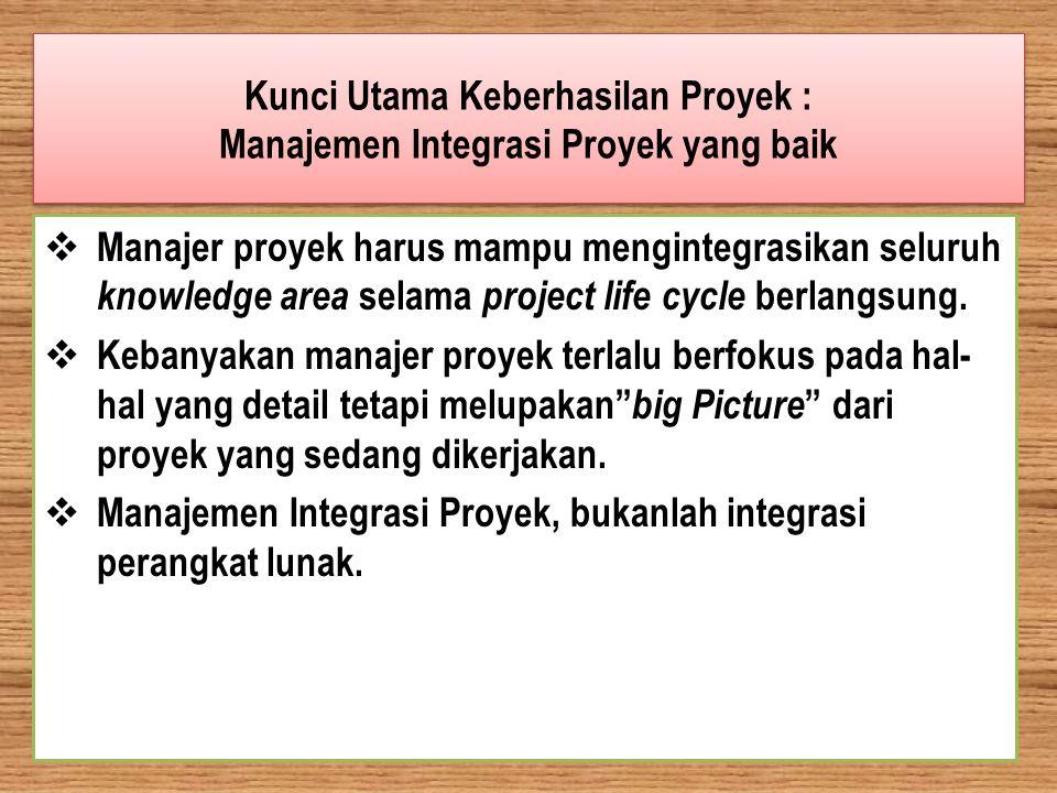 Kunci Utama Keberhasilan Proyek : Manajemen Integrasi Proyek yang baik