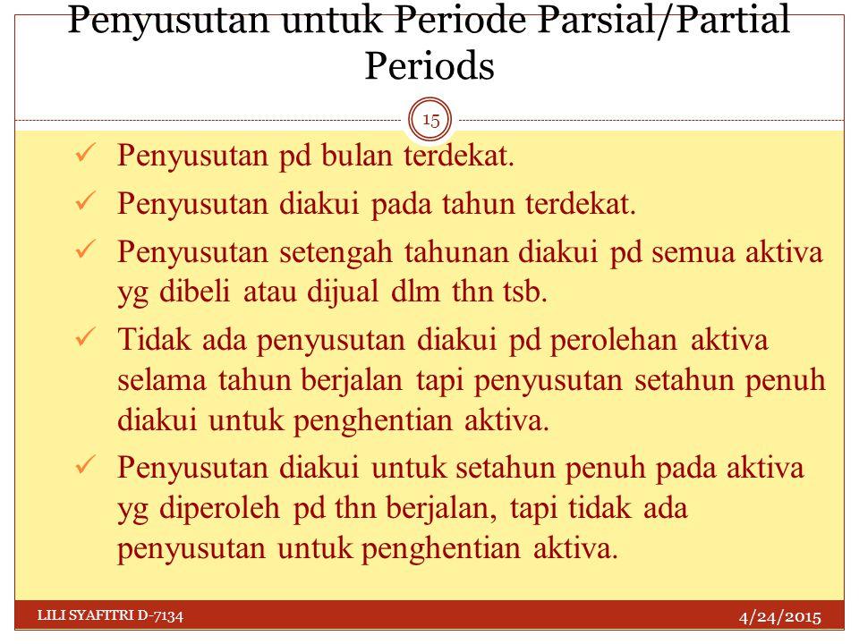 Penyusutan untuk Periode Parsial/Partial Periods