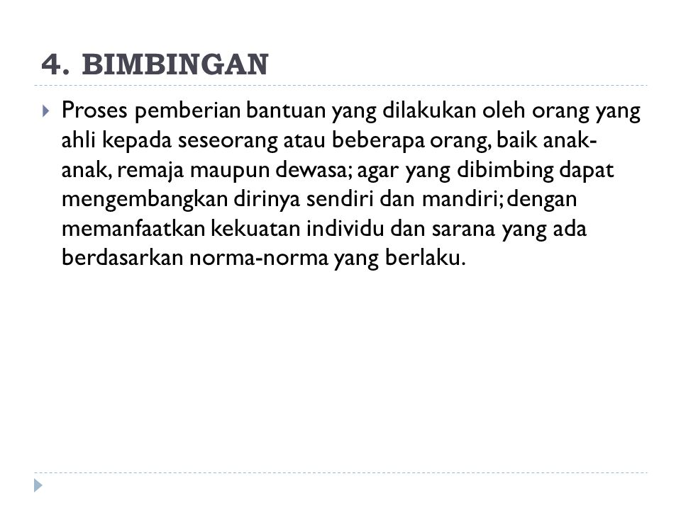4. BIMBINGAN