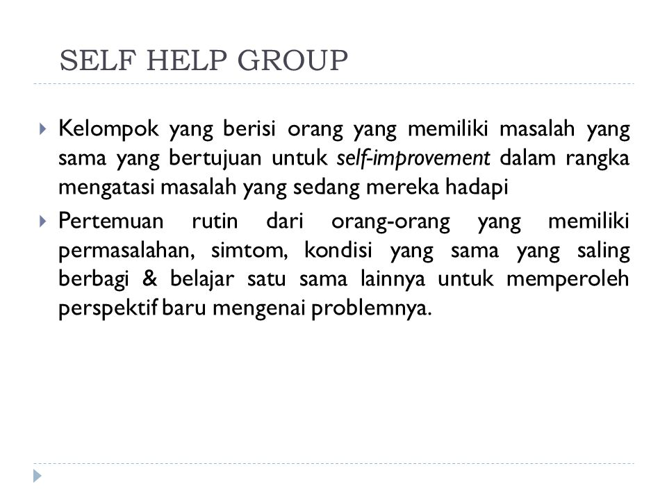 SELF HELP GROUP