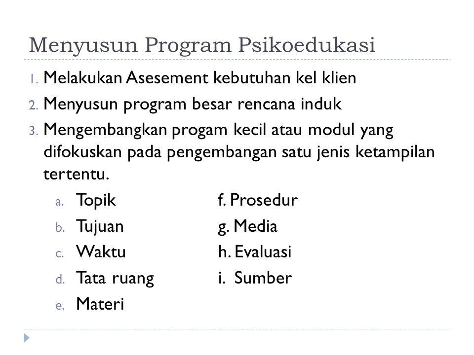 Menyusun Program Psikoedukasi