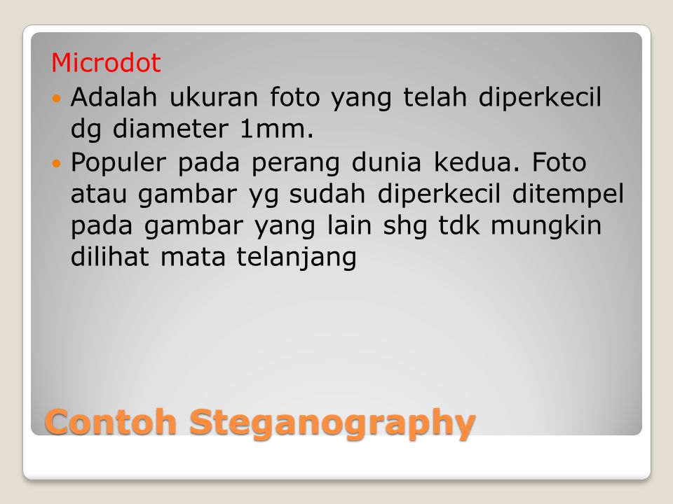 Contoh Steganography Microdot