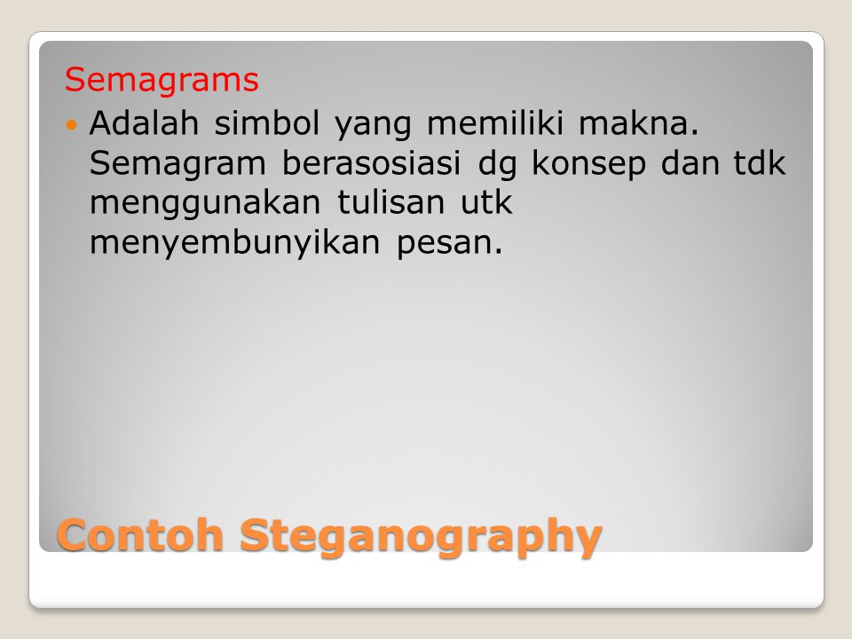Contoh Steganography Semagrams