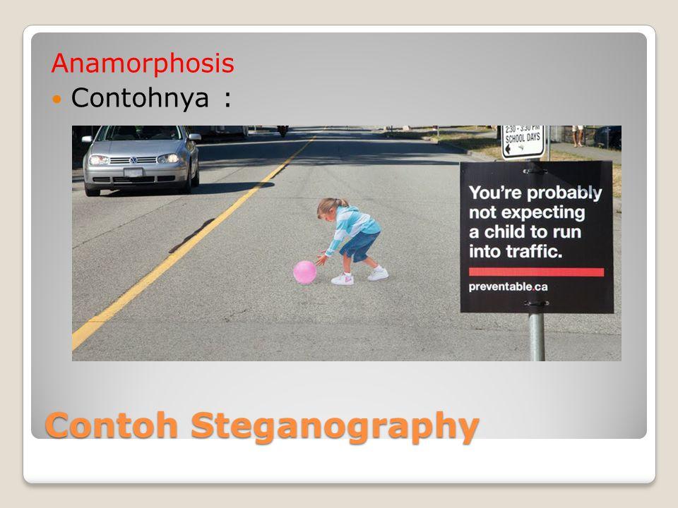 Anamorphosis Contohnya : Contoh Steganography
