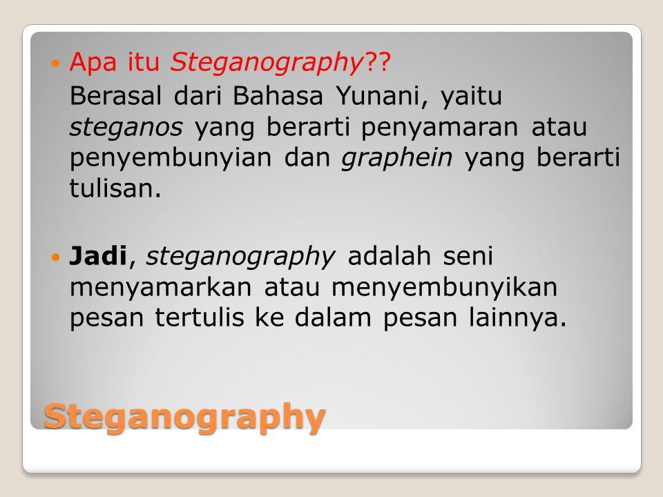Steganography Apa itu Steganography