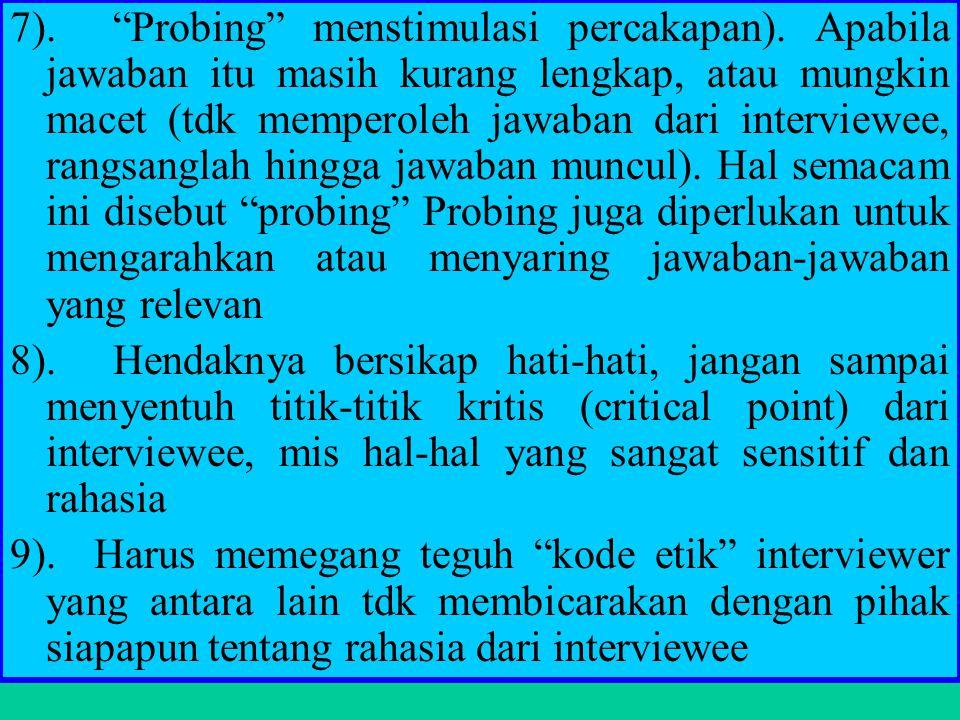 7). Probing menstimulasi percakapan)