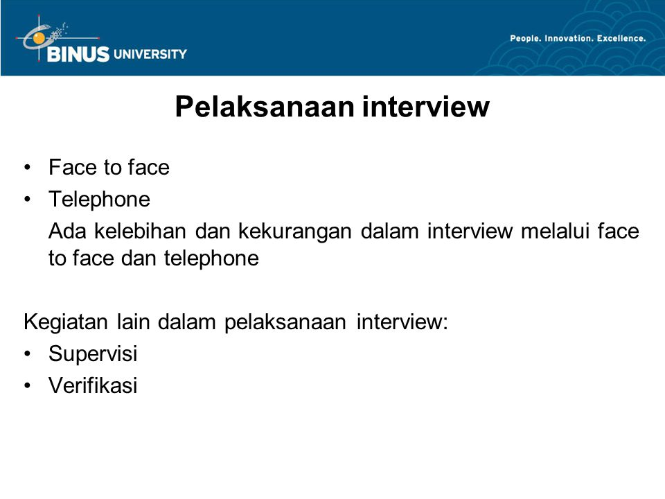 Pelaksanaan interview
