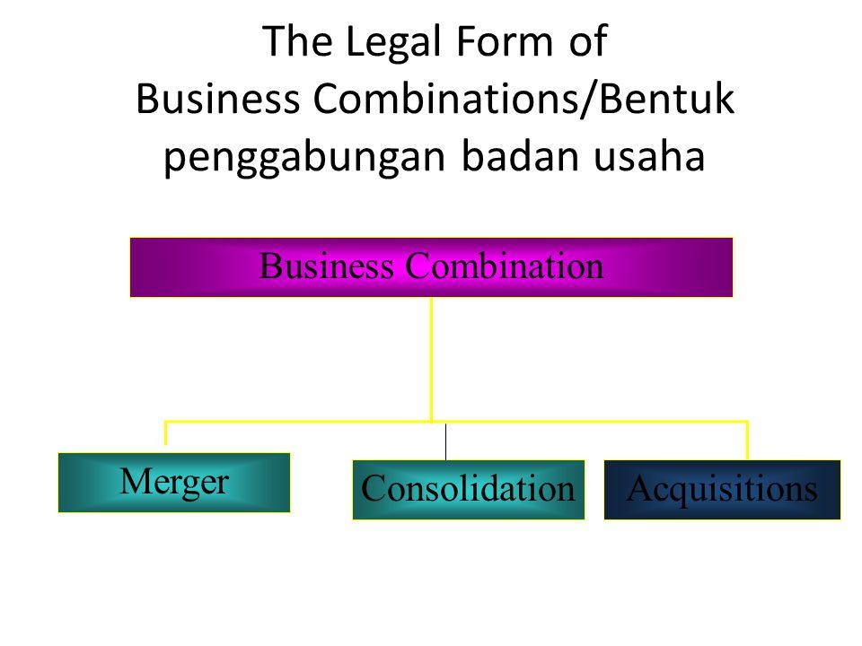 The Legal Form of Business Combinations/Bentuk penggabungan badan usaha