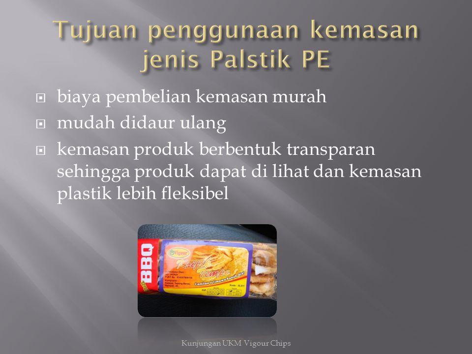 Tujuan penggunaan kemasan jenis Palstik PE
