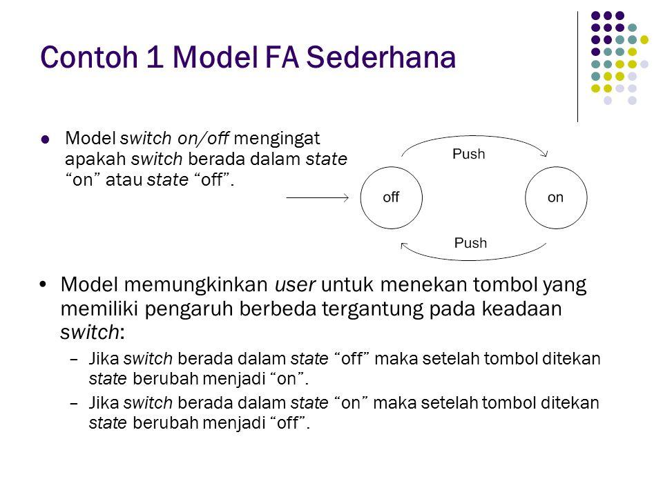 Contoh 1 Model FA Sederhana