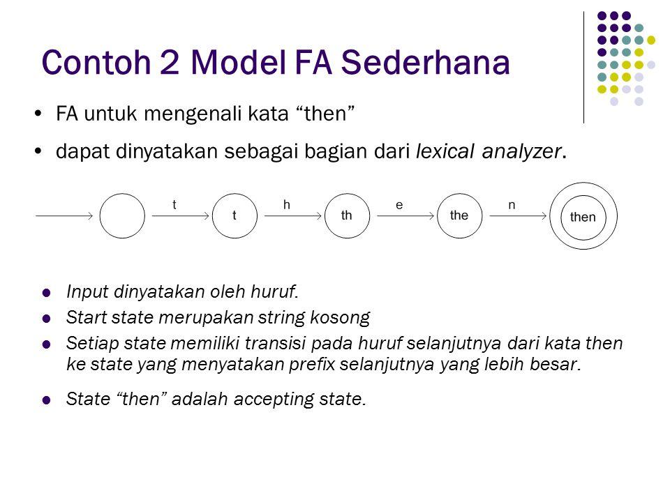 Contoh 2 Model FA Sederhana