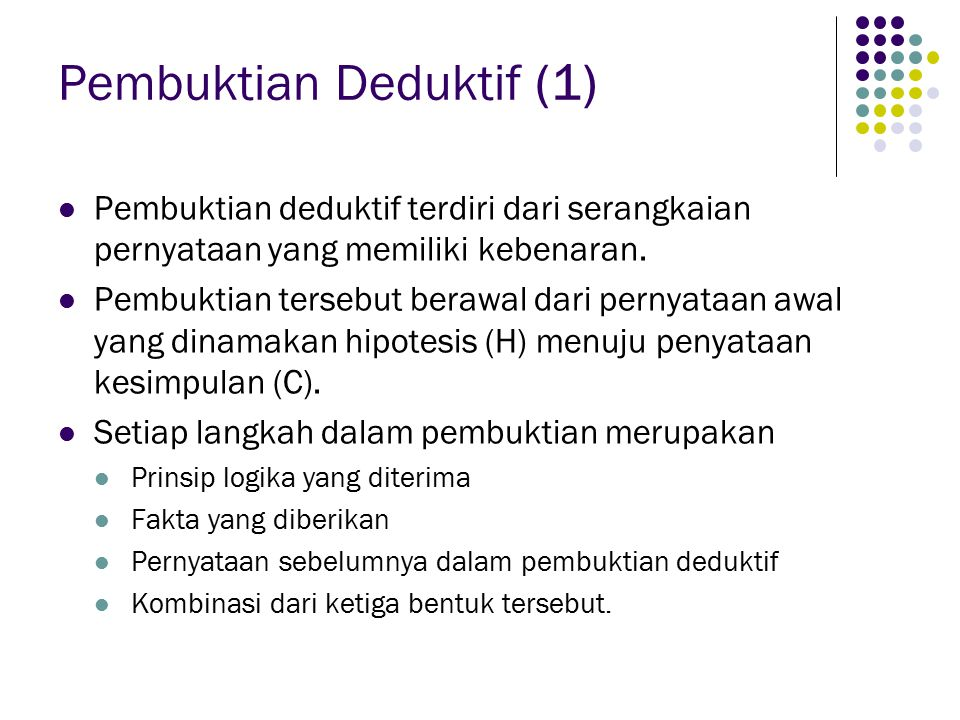 Pembuktian Deduktif (1)