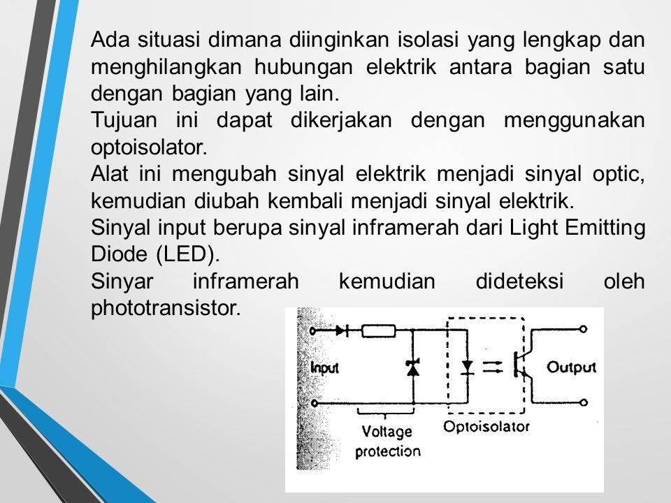 Ada situasi dimana diinginkan isolasi yang lengkap dan menghilangkan hubungan elektrik antara bagian satu dengan bagian yang lain.