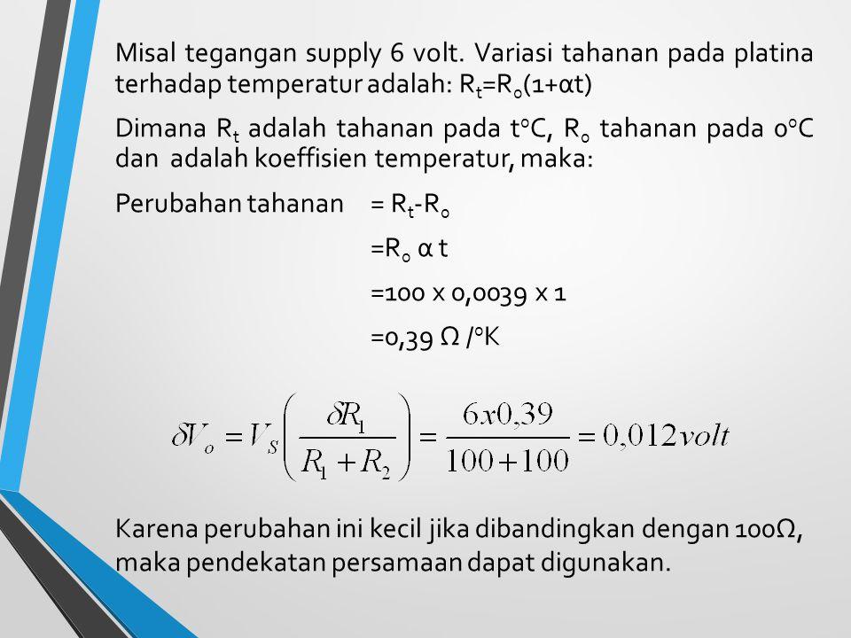 Misal tegangan supply 6 volt