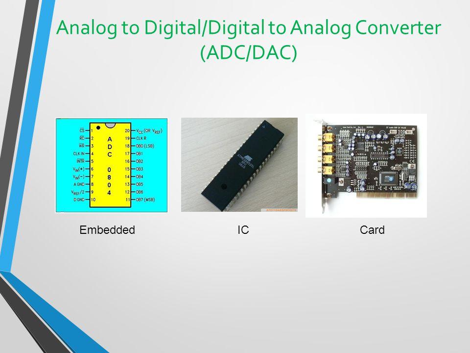 Analog to Digital/Digital to Analog Converter (ADC/DAC)