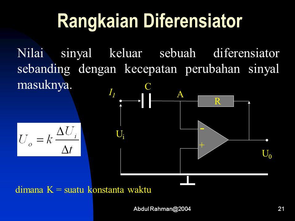 Rangkaian Diferensiator