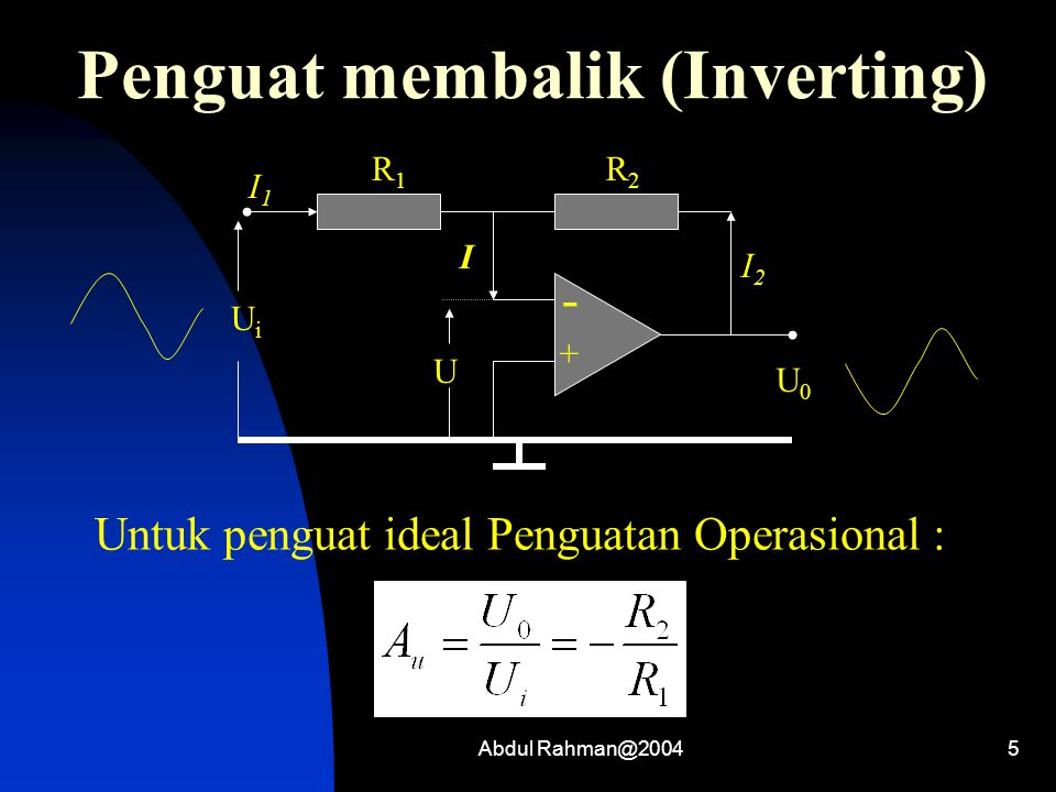 Penguat membalik (Inverting)