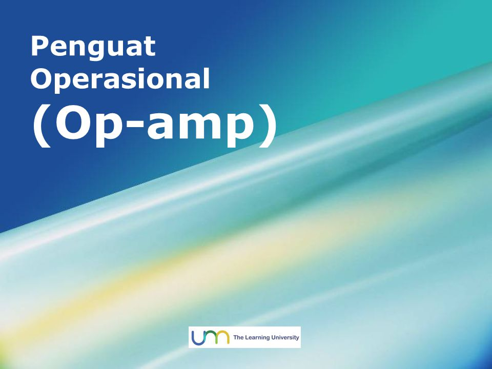Penguat Operasional (Op-amp)