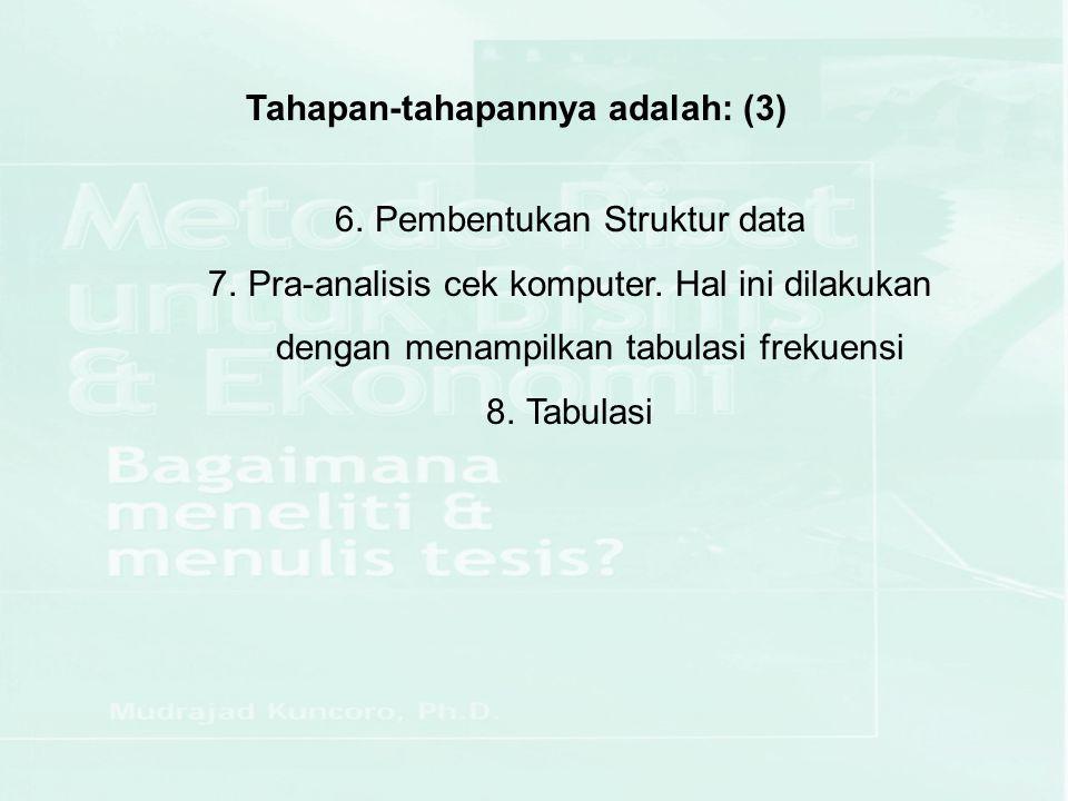 Tahapan-tahapannya adalah: (3)
