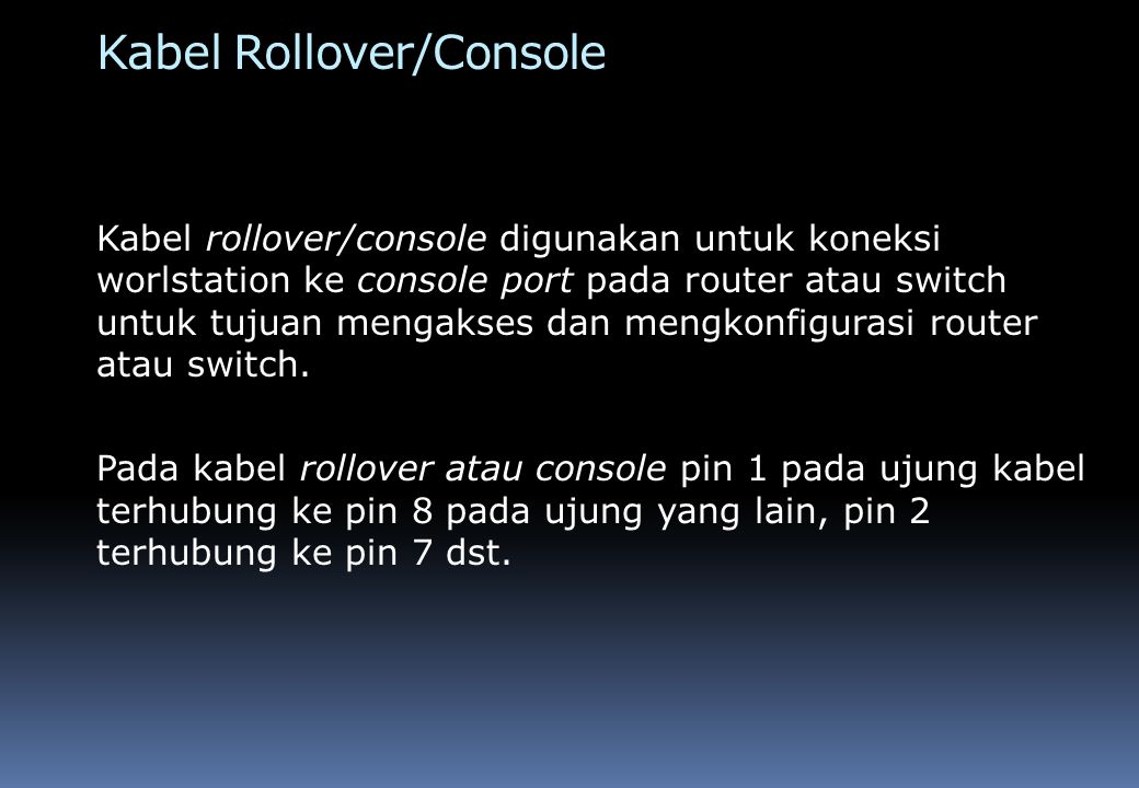 Kabel Rollover/Console