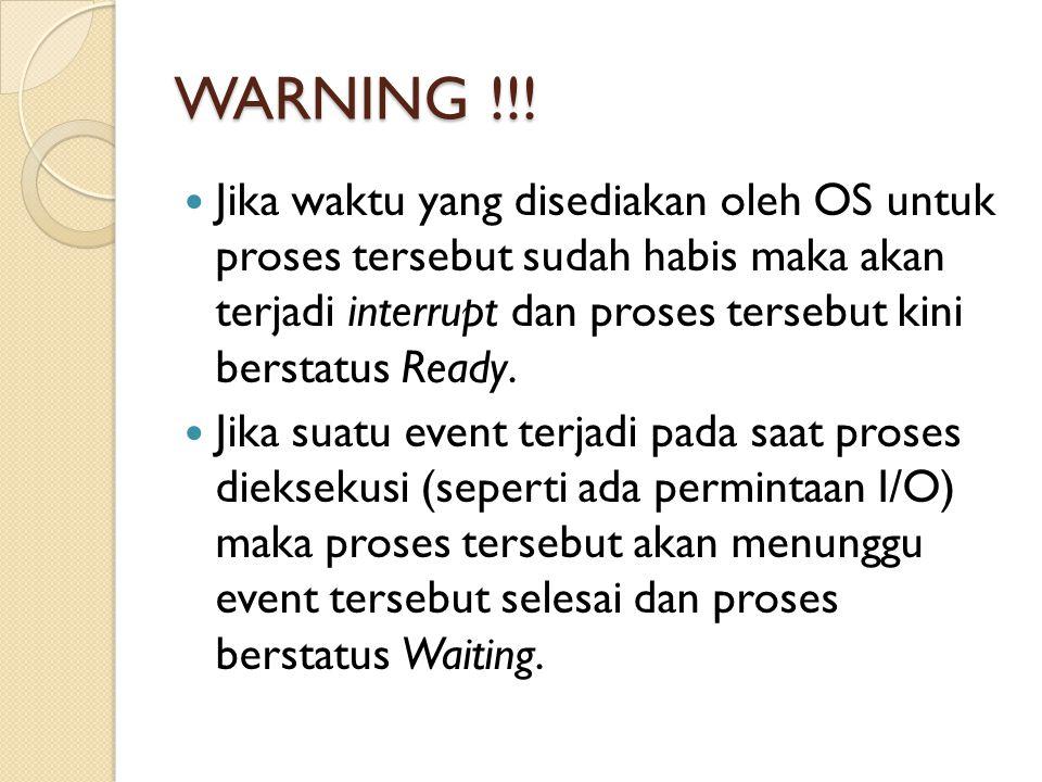 WARNING !!!