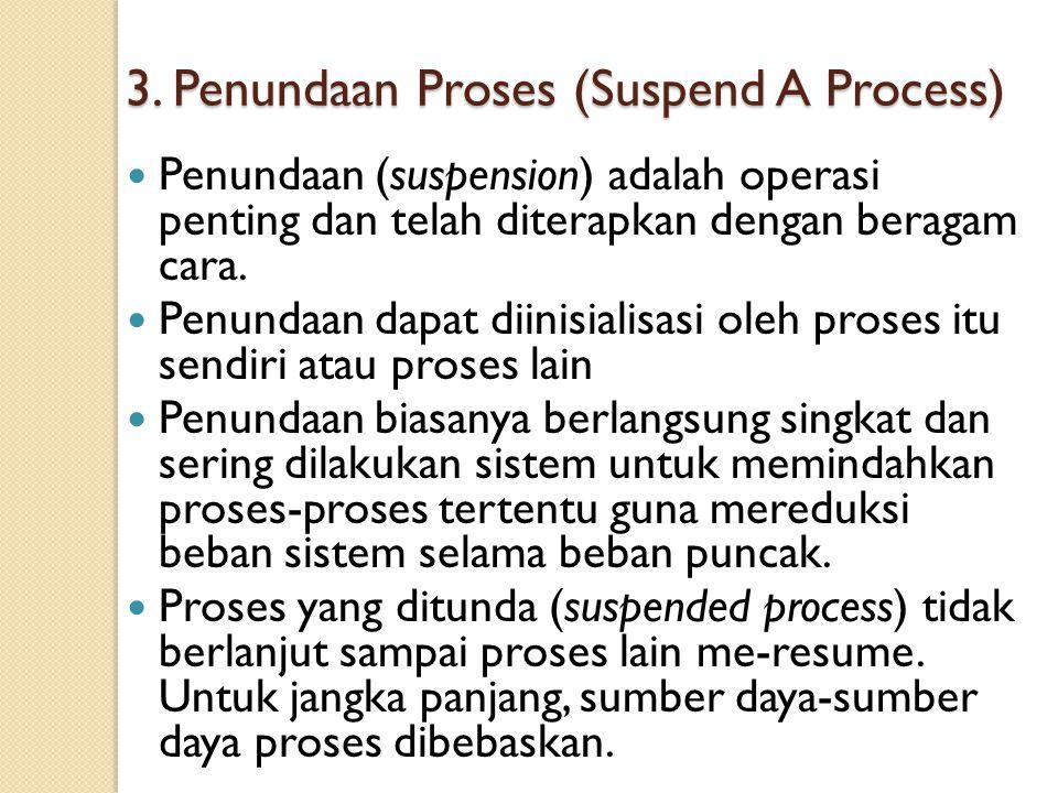 3. Penundaan Proses (Suspend A Process)