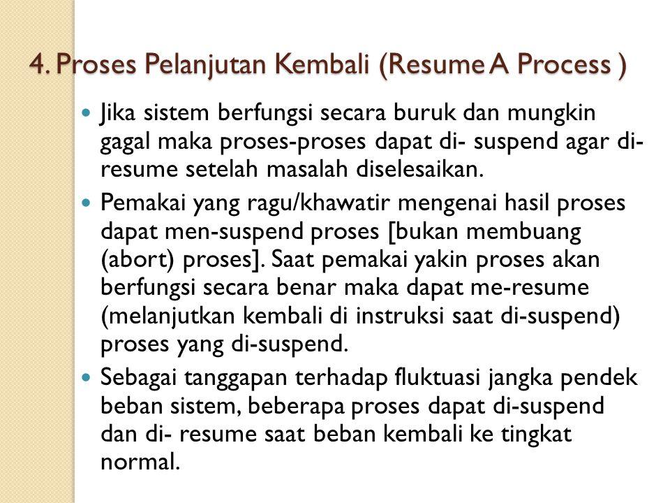 4. Proses Pelanjutan Kembali (Resume A Process )