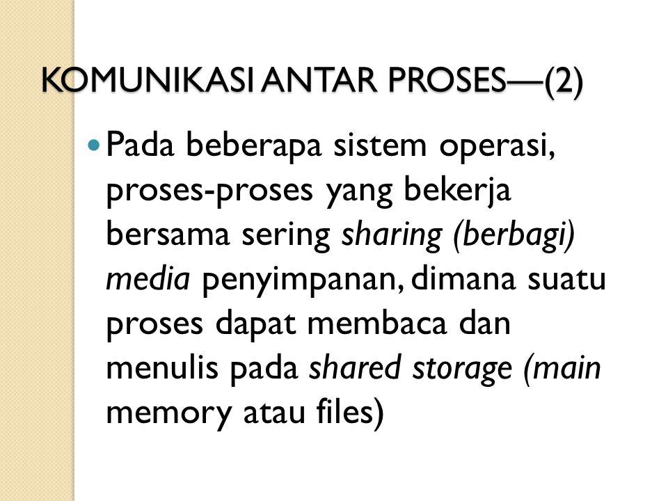 KOMUNIKASI ANTAR PROSES—(2)