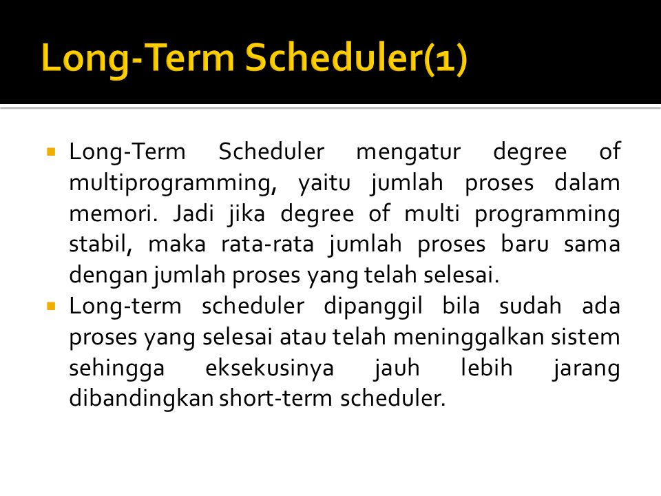 Long-Term Scheduler(1)