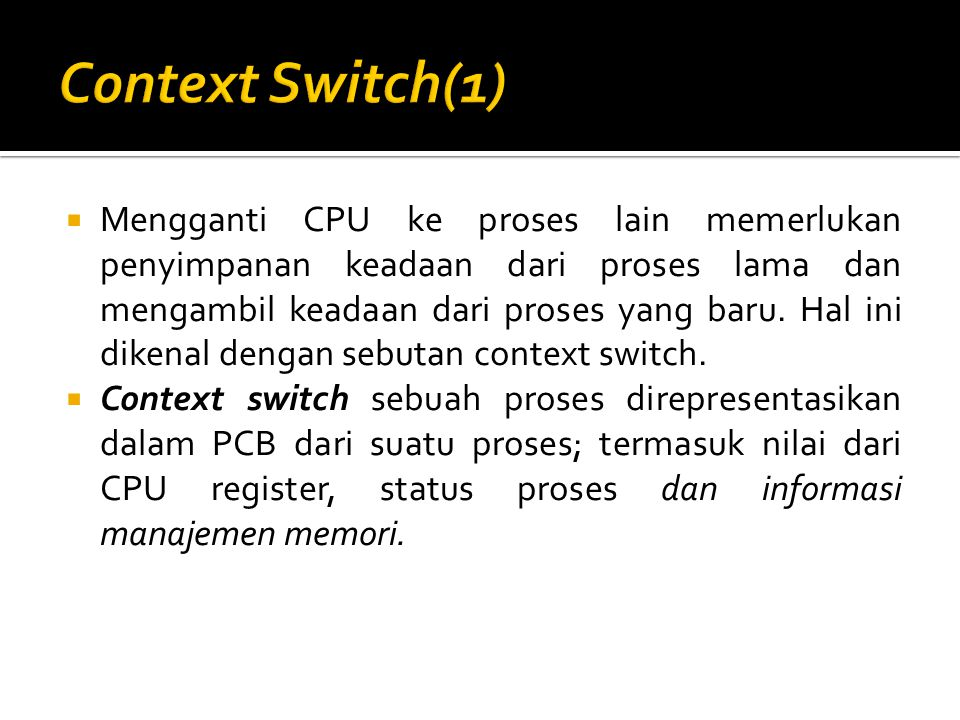 Context Switch(1)