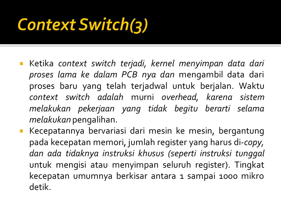 Context Switch(3)
