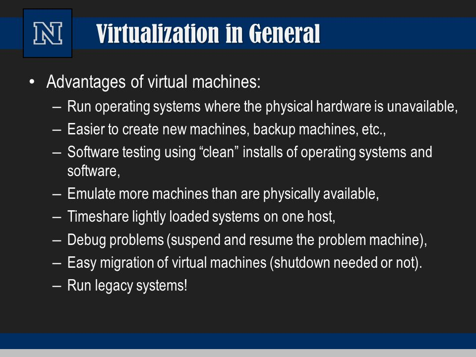 Virtualization in General