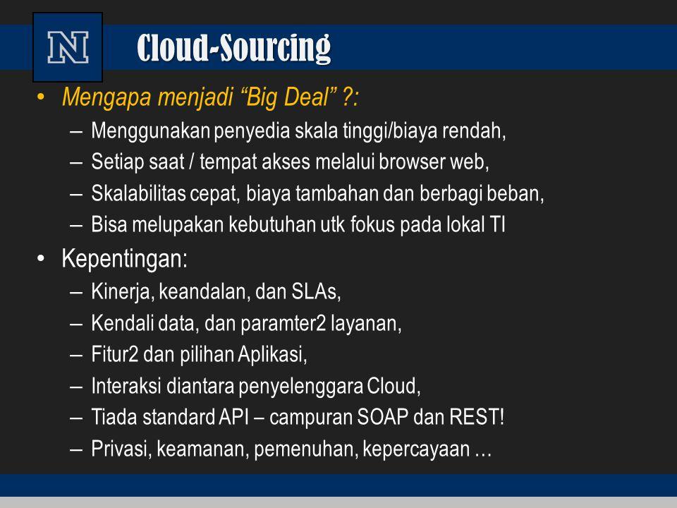 Cloud-Sourcing Mengapa menjadi Big Deal : Kepentingan: