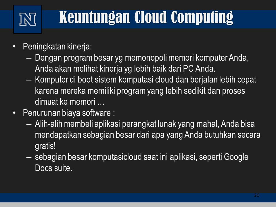 Keuntungan Cloud Computing