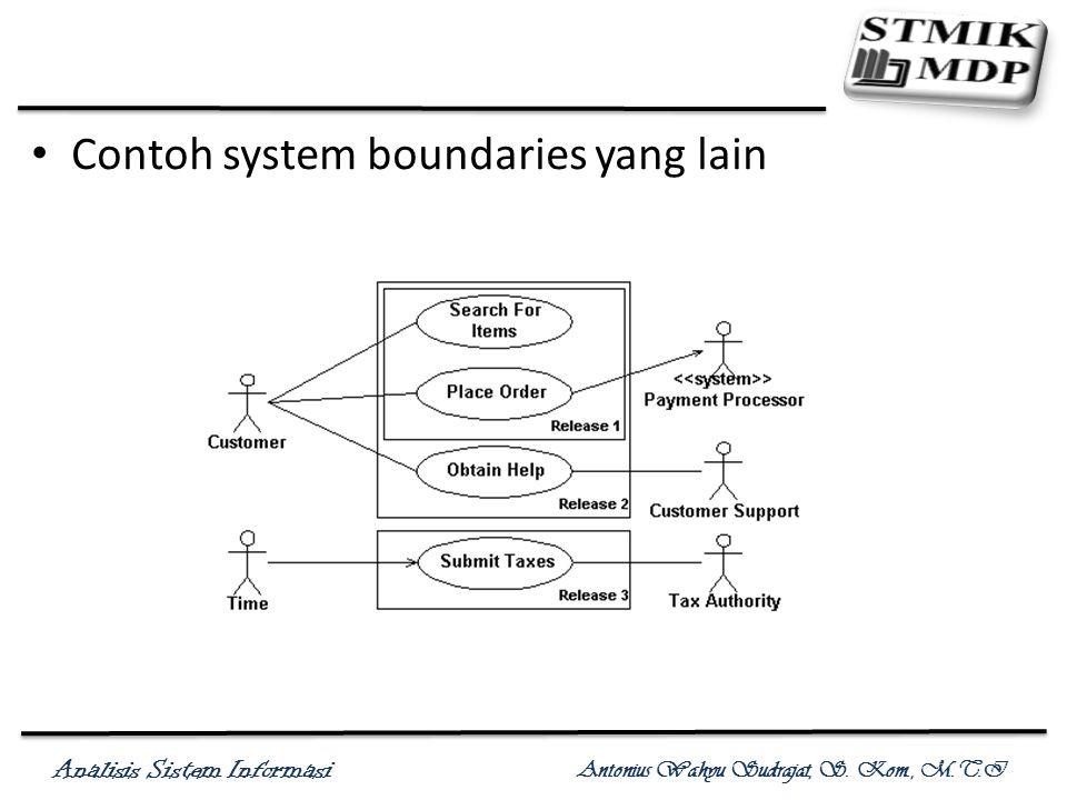 Contoh system boundaries yang lain