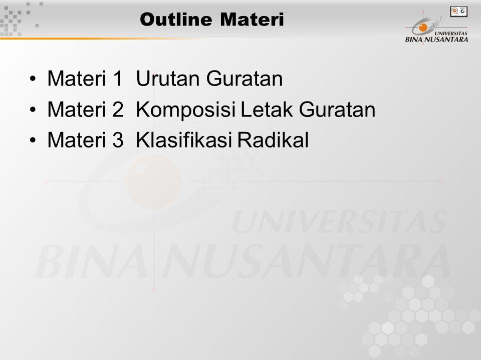 Materi 2 Komposisi Letak Guratan Materi 3 Klasifikasi Radikal