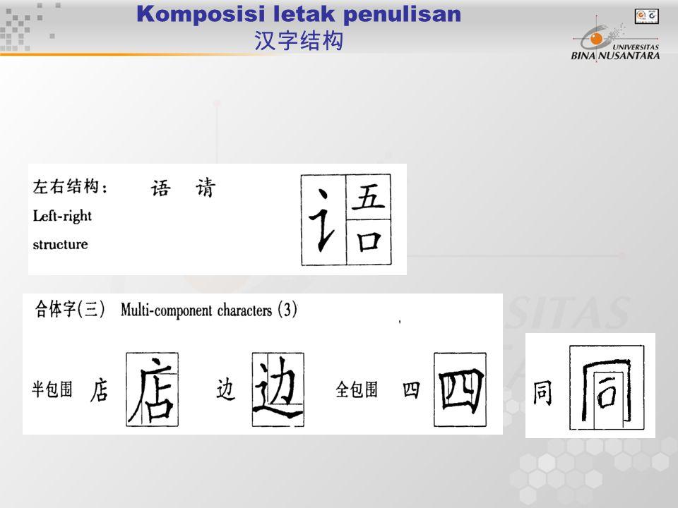 Komposisi letak penulisan 汉字结构