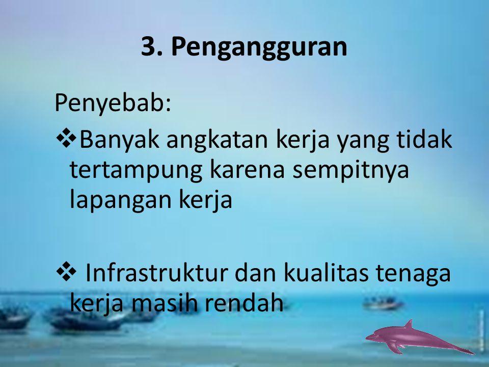 3. Pengangguran Penyebab: