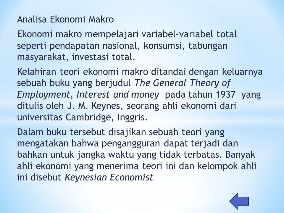 Analisa Ekonomi Makro