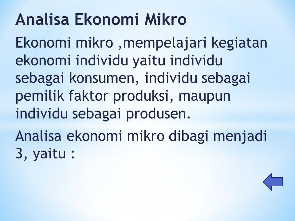 Analisa Ekonomi Mikro