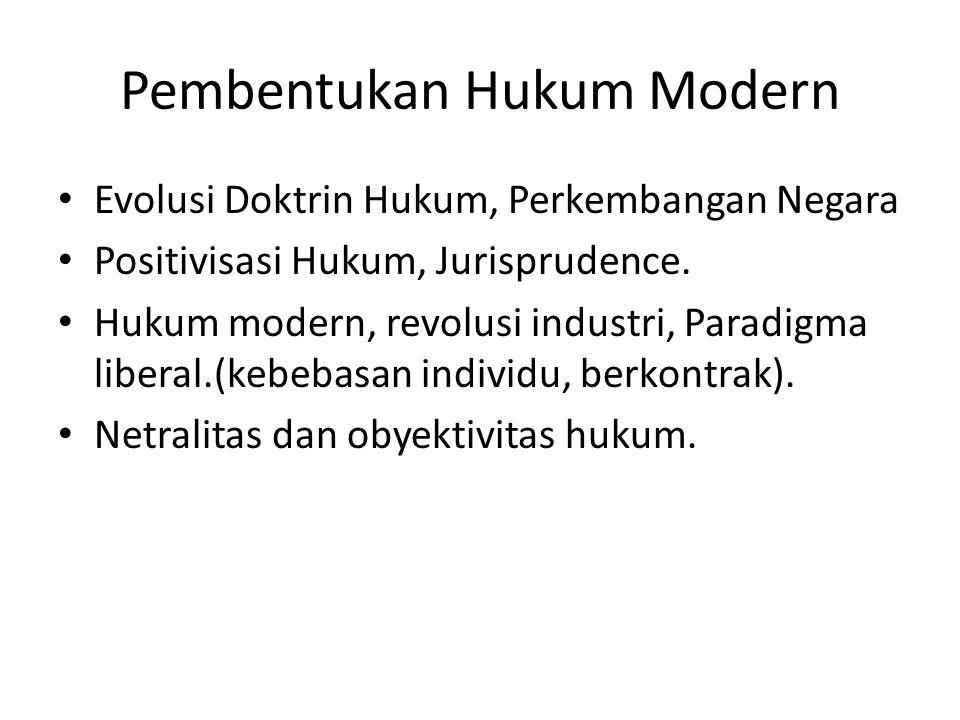 Pembentukan Hukum Modern