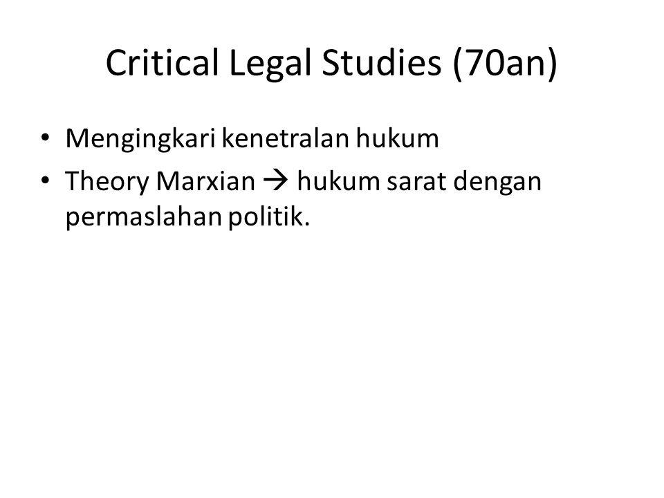 Critical Legal Studies (70an)