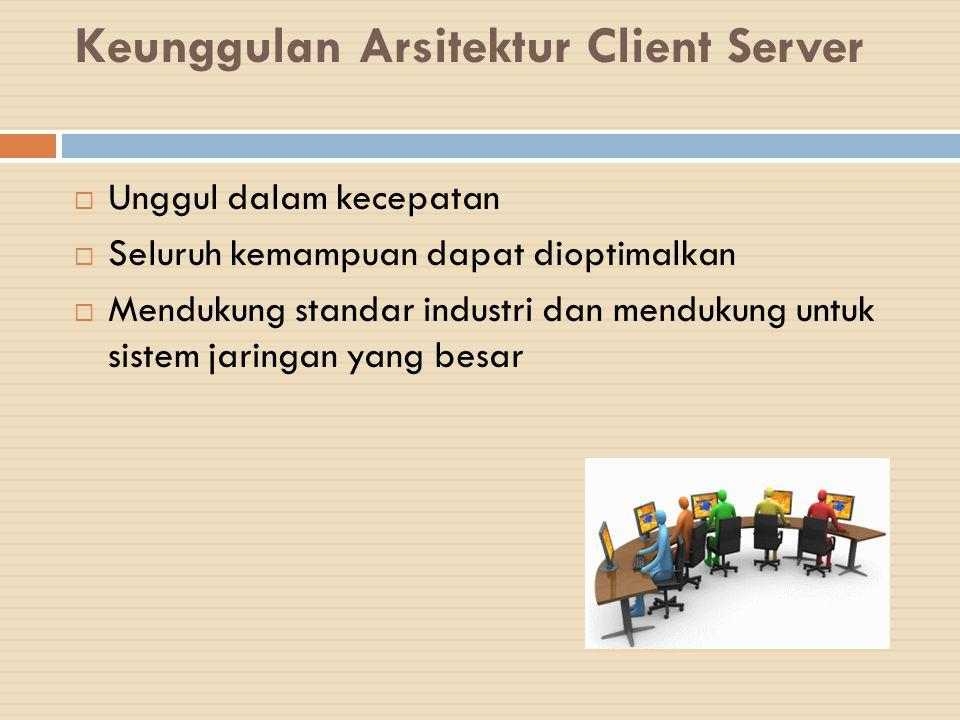 Keunggulan Arsitektur Client Server