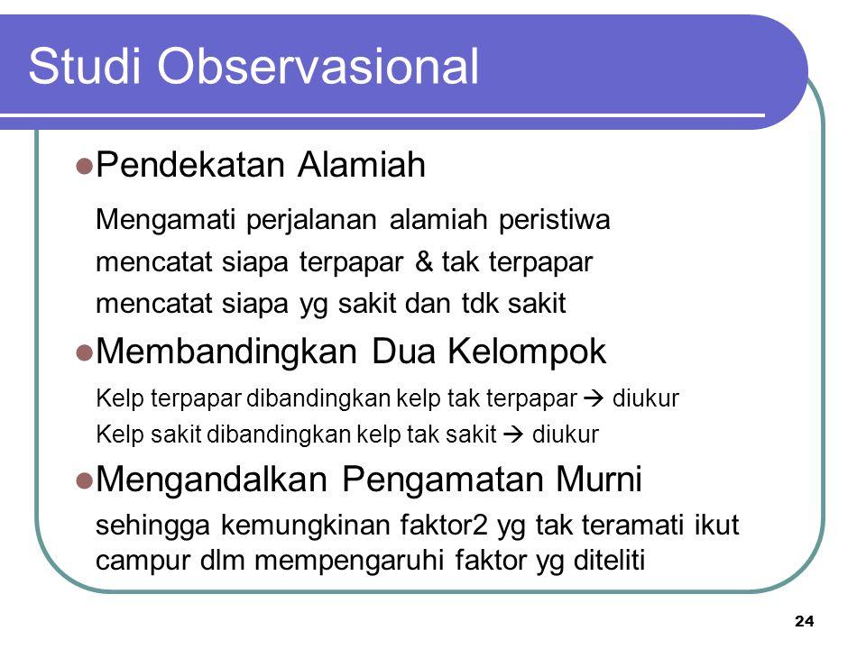 Studi Observasional Pendekatan Alamiah