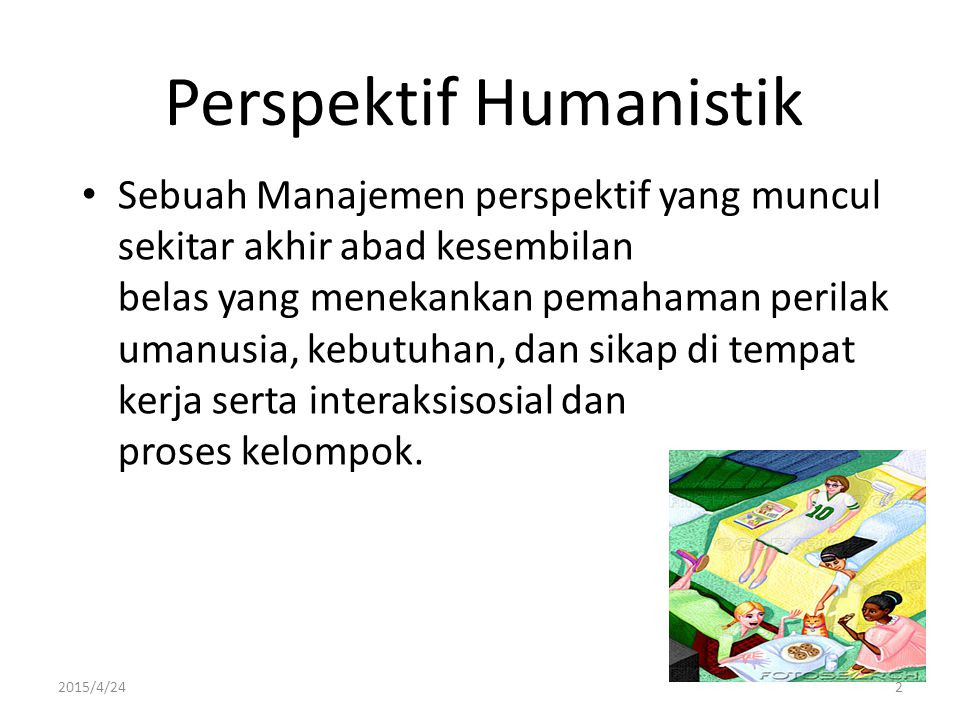 Perspektif Humanistik