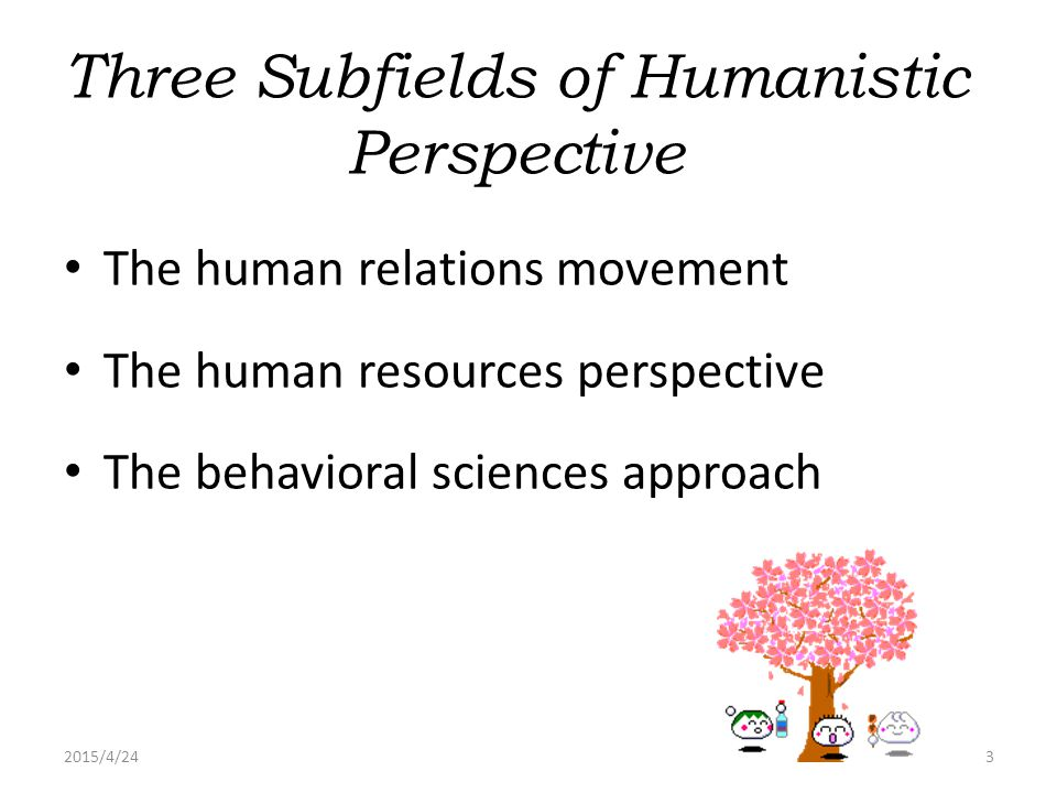 Three Subfields of Humanistic Perspective