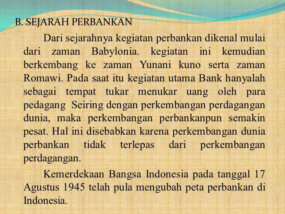B. SEJARAH PERBANKAN