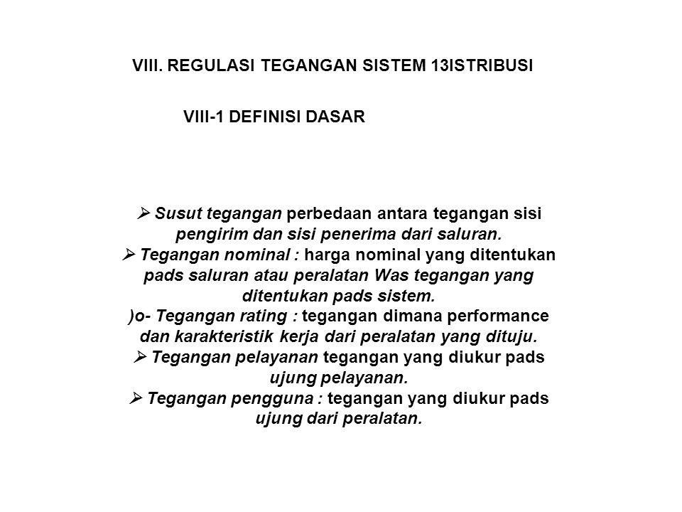 VIII. REGULASI TEGANGAN SISTEM 13ISTRIBUSI