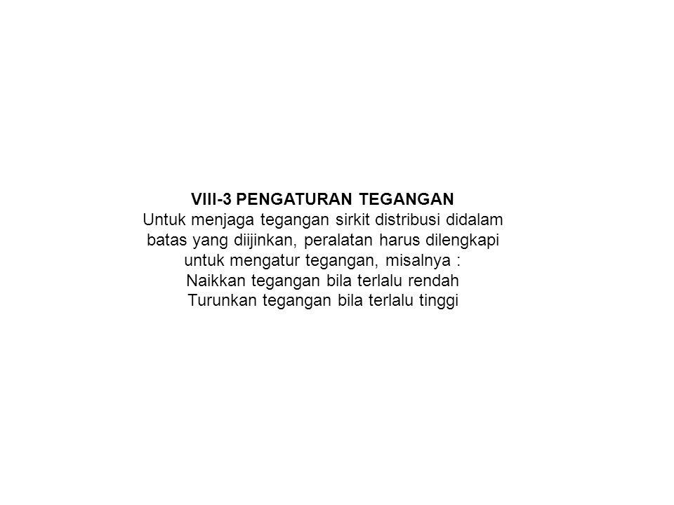 VIII-3 PENGATURAN TEGANGAN