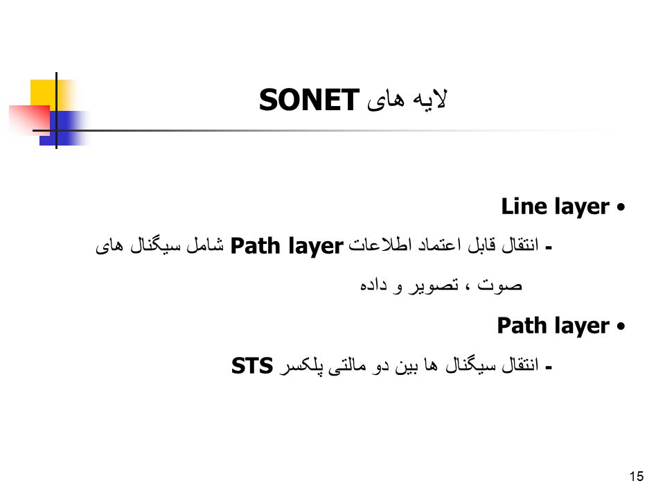 لایه های SONET Line layer
